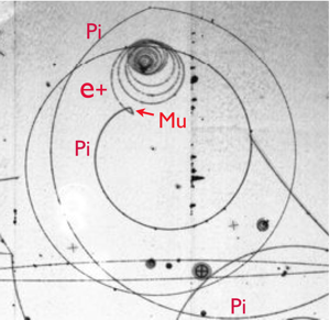 pion in a bubble chamber (from Richard Lander's talk)