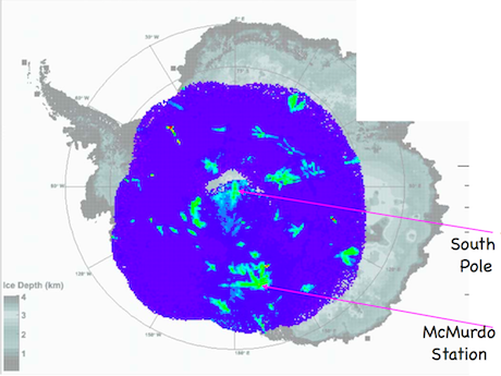 "Radio waves detected by the ANITA experiment provide a ""heat"" map of Antarctica."